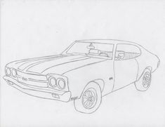 1970 Chevelle Ss Drawing Sketch Template