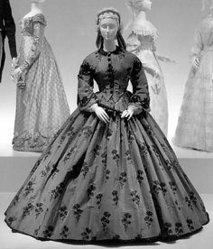 1863 French dress- I wish I would have been born back in this time period just because of the dresses.