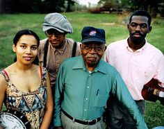 The Carolina Chocolate Drops with their mentor Joe Thomspon.  Old-time fiddler and folk musician Joe Thompson died Feb, 20, 2012, aged 93. Taught by his father how to play the fiddle, Thompson mastered a style of African-American country fiddling that has largely disappeared.