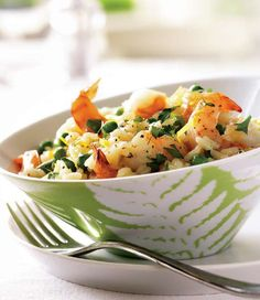 Shrimp and Pea Risotto. From Canadian Living: Make It Tonight.