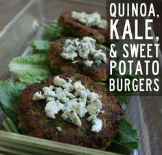Quinoa, Kale, and Sweet Potato Burgers (Vegan & Gluten-Free)