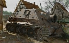 """38cm RW61 auf Sturmmörser Tiger """"Sturmtiger"""". Germany april 1945. Pin by Paolo Marzioli"""