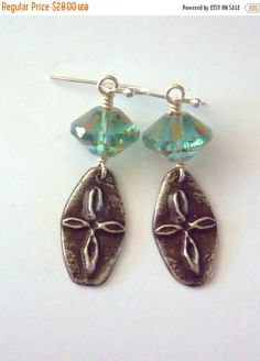 Gorgeous artisan pewter crosses are complemented with Czech Glass. These will be your go to earrings for your day on the boardwalk or the night on the town.   Sterling silv... #boho #bohemian #spiritual #turquoise #inviciti ➡️ https://www.etsy.com/listing/386884492/sale-rustic-cross-earrings-czech-glass?utm_campaign=products&utm_content=304d87c64d4d4be49f5de236240ec142&utm_medium=pinterest&utm_source=sellertools