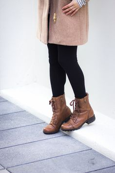 best boots for chronic pain | J.Crew camel jacket, Rockport   Cobb Hill Bethany boot, Cuyana backpack | lifeunrefined.com