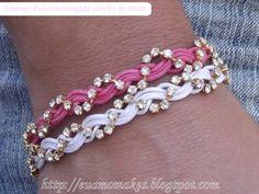 http://www.euamomakes.com/2012/07/tutorial-pulseira-trancada-com-fio-de.html