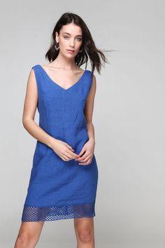 PLS fashion : Φόρεμα λινό (8162) Linen Dresses, Casual, Fashion, Moda, Fashion Styles, Fashion Illustrations