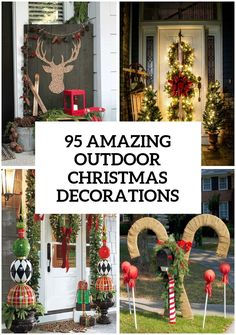 Outdoor Christmas Decorations #christmasdecorations #christmastreats  #diychristmasornaments #christmaswreath #christmasideas #xmasdecorations #