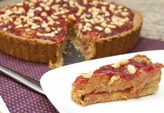 The pb&j trend is going strong.  Here we have a tart but don't feel you have to limit yourself - there are cookies, cakes, snack bars, and even grilled pb&j's to fulfill your craving for kid food.  This is from Cake, Batter, and Bowl