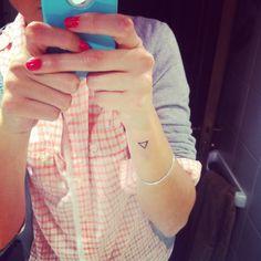 Triangle tattoo, biggest bday wish!