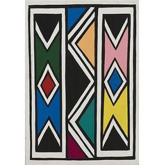 Buy online, view images and see past prices for Ester Mahlangu Sans titre, 2001 Huile sur panneau 65 x 95 cm. Invaluable is the world's largest marketplace for art, antiques, and collectibles. Africa Tribes, Africa Art, Africa Symbol, Mural Art, Murals, Value In Art, Home Sew, Cement Crafts, Identity