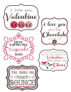 14 cute printables and lots of cute ways to use them!!