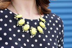 neon yellow necklace/J.Crew