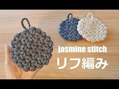 crochet jasmine stitch かぎ針編み 円のリフ編み エコたわし 코바늘 자스민스티치 뜨기 - YouTube Quick Crochet, Diy Crochet, Crochet Crafts, Crochet Projects, Diy Crafts, Crochet Shell Stitch, Crochet Motif, Crochet Flowers, Crochet Triangle