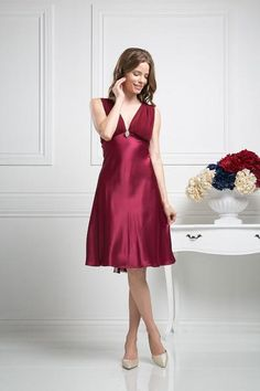 Short Sleeveless Bridesmaids Dress Formal Plus Size Cocktail Sale - The Dress Outlet - 1