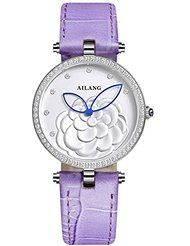 AILANG Waterproof Diamond 3D Rose Flower Pattern Analog Womens Wrist Watches with Purple Leather Band by Ailang $75.30+ $3.99 shipping