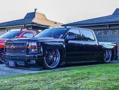 Chevy Trucks Lowered, Bagged Trucks, Dodge Trucks, Pickup Trucks, Silverado Truck, C10 Chevy Truck, Chevrolet Silverado, Dropped Trucks, Tuner Cars