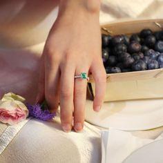 Solitaire set with a 1.00ct. emerald cut emerald which is enhanced by a magnificent diamond halo and a micro-pavé ring.   #aguadeoro #suisse #jewelry #swissmade #jewlerydesigner #handmadejewelry #bijoux #bijouxlovers #bijouxdeluxo #schmuck #schmuckst #schmuckdesign #diamonds #womanstyle Solitaire Setting, Pave Ring, Emerald Cut, Halo Diamond, Shades Of Green, Jewlery, Handmade Jewelry, Thing 1, Engagement Rings