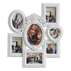 7 Opening Large Stylish Molded White Wooden Wall Collage Photo Picture Frame Wall Art, Holds Seven Different Size Photos by ADECO, http://www.amazon.com/dp/B009JJPE3G/ref=cm_sw_r_pi_dp_FglFqb0QR24KE