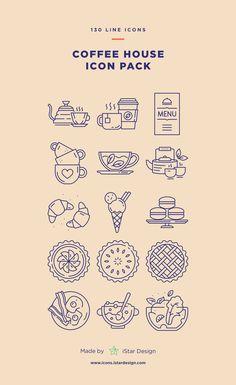 Flat Design Icons, Icon Design, Logo Design, Design Design, Coffee Icon, Coffee Type, Donut Store, Illustration Art Drawing, Home Icon