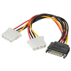 Excellent Quality SATA 15 Pins to Couple 4 Pin PC HDD Power Adaptor Cable Lead Wire For PC Hard Drive #Affiliate