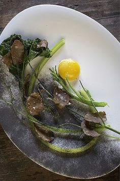 Hay-smoked egg with hay cinders - By Rene Redzepi