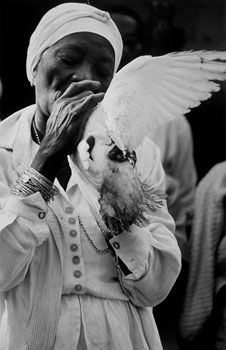 Photo by Claire Garoutte  Santera with Dove, Matanzas, Cuba