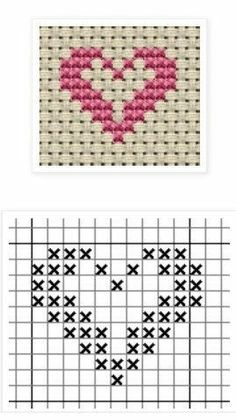 Hottest Free Cross Stitch heart Style Cross-stitch is an easy sort of needlework. - Hottest Free Cross Stitch heart Style Cross-stitch is an easy sort of needlework, perfect on the ma - Tiny Cross Stitch, Easy Cross Stitch Patterns, Cross Stitch Bookmarks, Cross Stitch Heart, Cross Stitch Cards, Simple Cross Stitch, Cross Stitch Borders, Cross Stitch Alphabet, Cross Stitch Designs