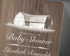 Modern Farm Baby Shower Invitation