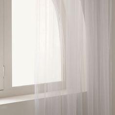 Glitter print tulle curtain $119