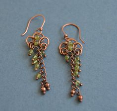A personal favorite from my Etsy shop https://www.etsy.com/listing/508800992/peridot-antique-copper-earrigns-green