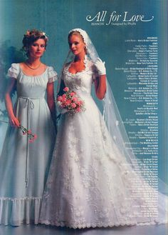 1970s Wedding, Vintage Wedding Photos, Vintage Weddings, Vintage Bridal, Wedding Bridesmaid Dresses, Bridal Dresses, Wedding Gowns, Hope Fashion, Fancy Clothes