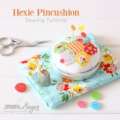 Hexie Pincushion {Free Sewing Tutorial} | A Spoonful of Sugar | Bloglovin'