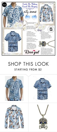 """""""Rosegal"""" by aida-ida ❤ liked on Polyvore featuring Guide London, men's fashion and menswear"""