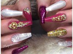 Glitter Ombré Summer Stiletto Nails  by MargaritasNailz