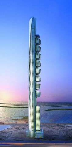 Pentominium, Dubai, UAE by Aedas Architects :: 122 floors, height 516m