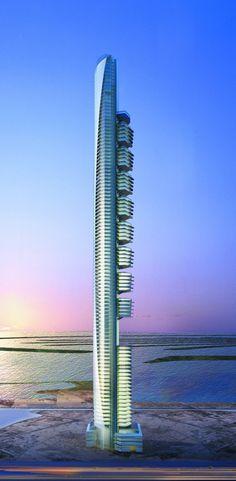 Pentominium, Dubai, UAE by Aedas Architects :: 122 floors, height 516m