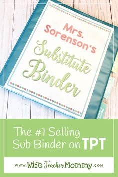 Editable Substitute Binder Forms for your editable sub binder or sub tub! Teacher Organization, Teacher Tools, Teacher Hacks, Teacher Resources, Kindergarten Teachers, New Teachers, Kindergarten Classroom, Substitute Binder, Substitute Teacher