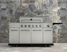 Buy this Kenmore 6 Burner Stainless Steel Gas Grill with Front Storage with deep discounted price online today.
