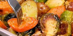 Plat de légumes croquants rôtis au four débordant de saveurs - Recettes - Ma Fourchette Cooking Time, Cooking Recipes, Confort Food, Crepes, Vegetable Recipes, Barbecue, Potato Salad, Biscuits, Cabbage