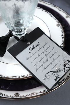 Black and White Place Setting  http://www.catrinamaria.com/