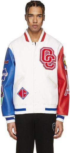 OPENING CEREMONY White France Global Varsity Jacket. #openingceremony #cloth #jacket