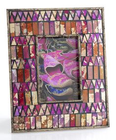 This Ruby Midar Mosaic Picture Frame is perfect, $20 !!  #zulilyfinds
