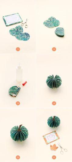 DIY Paper Pumpkin Centerpiece