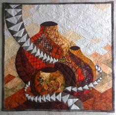 Les vases - Technique des courbes - patchwork - Tatiana Alves