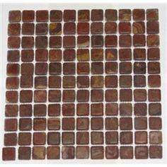 1x1 Multi Red Onyx Square Pattern Tumbled Finish Mosaic Tile #onyx_mosaic_tile #mosaic_tiles #onyx_tiles