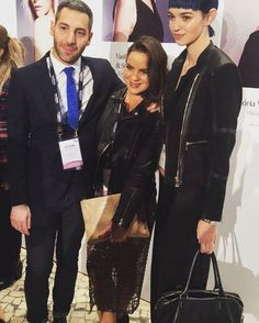 A Penelope Cream Tie on the red carpet of L'Oreal Professional Awards 2016. Congratulations to Young Talent and UK Colour Trophy Awards Winners Vas Mikelides and Sara Bergantini at Sinead Kelly London salon.