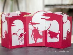 Disney Land And Sea, Lantern Designs, Silhouette Images, Star Wars Party, Star Wars Characters, Paper Lanterns, Mandalorian, Paper Crafts, Paper Paper
