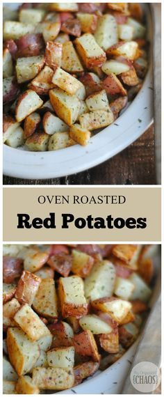 Oven Roasted Red Potatoes is a classic recipe and a favourite in your rotation, and a regular on your dinner table. For the everyday to the holiday, make this clean eating potato recipe for the family. Pin now to make this healthy recipe later! Clean Eating, Healthy Eating, Oven Roasted Red Potatoes, Oven Potatoes, Red Potatos In Oven, Country Potatoes Recipe Oven, Cooking Red Potatoes, Russet Potatoes, Side Dish Recipes