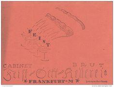 Original-Werbung/ Anzeige 1918 - FEIST CABINET BRUT SEKT-KELLEREI FRANKFURT - ca. 200 X 140 mm