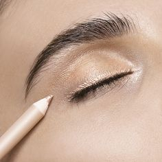 The perfect eyeliner for a subtle, shimmery eye: Limited-Edition Double Wear Stay-in-Place Eye Pencil in Pink Gold